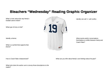 "Grisham's Bleachers ""Wednesday"" Graphic organizer"