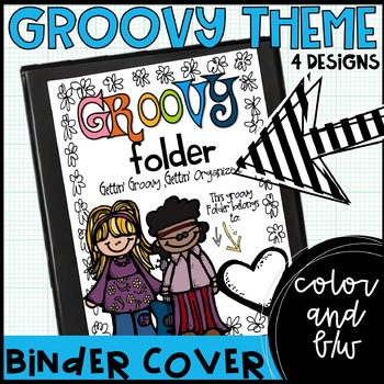 Groovy 60s themed communication binder/folder covers