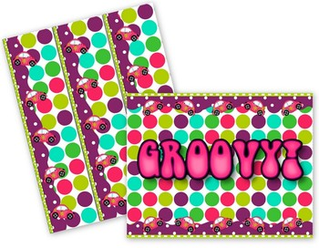 Groovy Polka Dots Bulletin Board Set