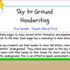Ground to Sky Letters for Handwriting on the Smart Board
