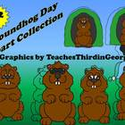 Groundhog Day Clip Art Collection-12 Images-Commercial use