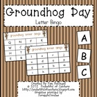 Groundhog Day Letter Bingo