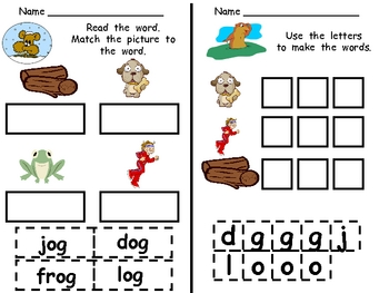 Groundhog Day Literacy Activities- Kindergarten- og word f