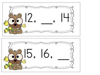 Groundhog Day Number Ordering Activity for Numbers 1-30
