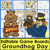 Groundhog Day Sight Words Game Boards-First 106 Dolch Words