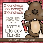Groundhog Math and Literacy Bundled Center Games for Common Core