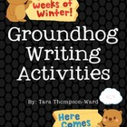 Groundhog Writing Scaffold
