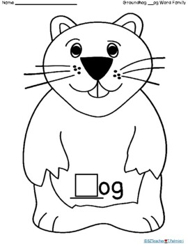 "Groundhog """"__og"" Word Family Flip activity"