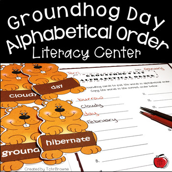 Groundhog's Day Alphabetical Order Literacy Activity
