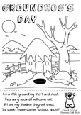 Groundhog's Day Coloring Sheet / Craft with Song & Puppet