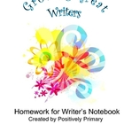 Growing Great Writers: Homework for Writer&#039;s Notebook