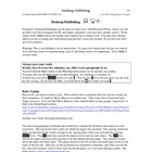 Guerrilla Writing Basic Essays Ch 10 Desktop Publishing