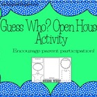 Guess Who Open House Printable and Keepsake