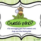 Guess Who? Spelling and Phonics Game (Advanced Vowels)