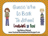Guess Who is Back to School!  Game & Open House Display