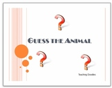 Guess the Animal PowerPoint-Great for Zoo Units
