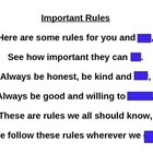 Guess the Covered Word- Important Rules