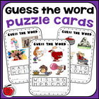 Guess the Word Puzzle Cards