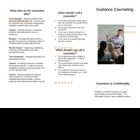 Guidance Counseling Brochure
