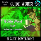 Guide Word Fun! - Lesson and Test Prep