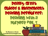 Guided & Independent Reading Resources:  Reading with a Pu