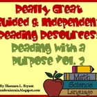 Guided &amp; Independent Reading Resources:  Reading with a Pu