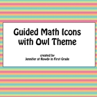 Guided Math Cards with Owl Theme