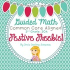 Guided Math: Festive Freebie! 3 Digit +/- Word Problems