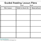 Guided Reading Blank Lesson Plan