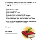 Guided Reading Book Contract and Late Notice