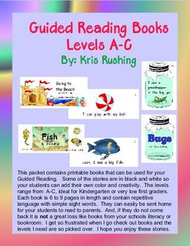 Guided Reading Books (Set 1)