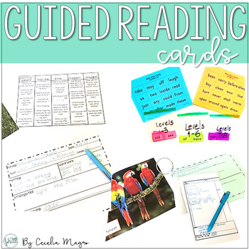 Guided Reading Cards-SIMPLE!
