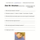 Guided Reading - Dear Mr. Henshaw