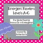 Guided Reading- Emergent Readers for Kindergarten- Levels