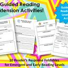Guided Reading Extension Activities:  Emergent and Early R