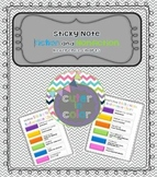 Guided Reading Fiction and Nonfiction Sticky Note Reference Chart