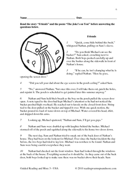 Guided Reading - Grade 3 -Friends / The Joke's on You