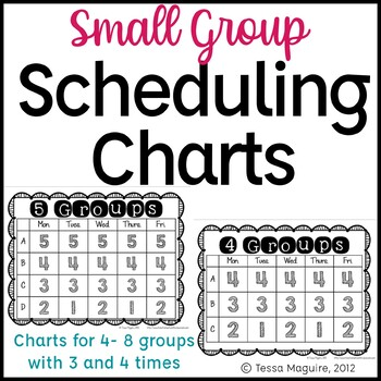 Guided Reading Groups Scheduling