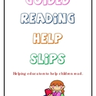 Guided Reading Help Slips - Strategy and Skill Reminders -