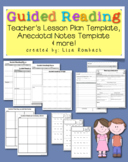 Guided Reading Lesson Plan & Notes Templates for Teachers