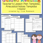 Guided Reading Lesson Plan &amp; Notes Templates for Teachers