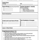Guided Reading Lesson Plan and Recording Sheets