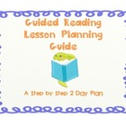Guided Reading Lesson Planning Tool