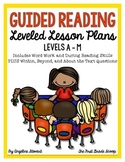Guided Reading Lesson Plans Levels A-M