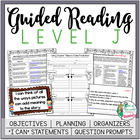 Guided Reading Level J Teacher Packet: Just add the Books
