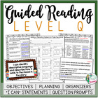 Guided Reading Level Q Teacher Packet: Just add the Books