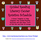 Guided Reading Literacy Center Management Schedule Owls (R