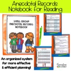 Guided Reading Small Group Anecdotal Records Notebook
