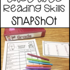 "Guided Reading ""Snapshot"" Assessment"
