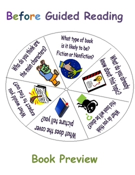 Guided Reading Spinners (Includes 4 Different Spinners!)
